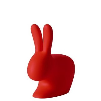 Qeeboo Chaise - Tabouret Rabbit Chair Baby - rouge