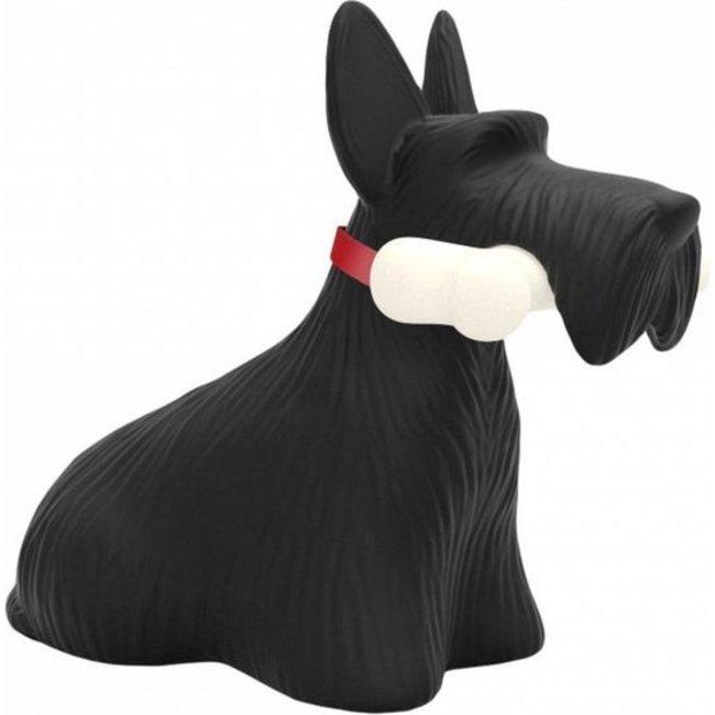 Qeeboo - Tischlampe Scottie, Scottish Terrier - schwarz - wiederaufladbar