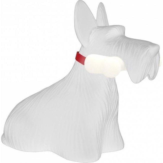 Qeeboo - Lampe de Table Scottie, Terrier Ecossais  - blanc - rechargeable