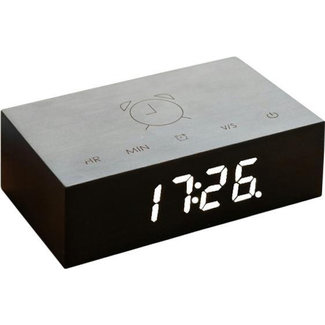 Gingko Flip Click Clock - black