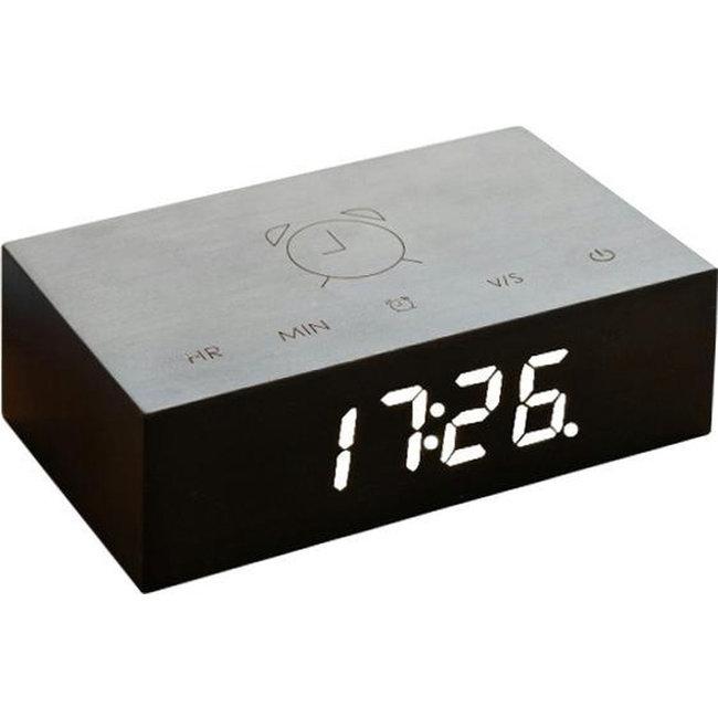 Gingko - Alarm Clock Flip Click Clock - black