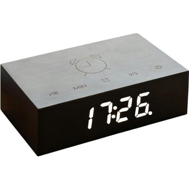 Gingko Flip Click Clock - schwarz