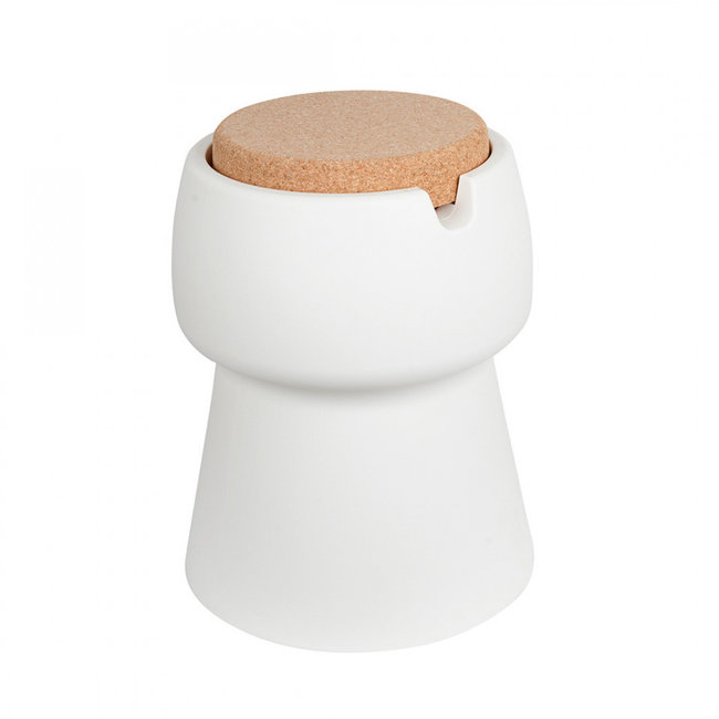 Bubalou Champ Stool - Champagne Cooler  - Side Table - white/cork
