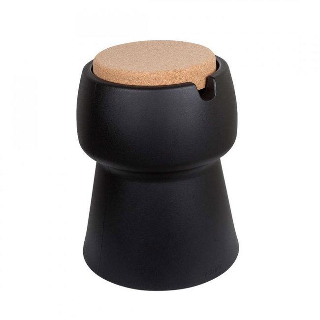 Bubalou Champ Kruk - Champagnekoeler - Bijzettafel - zwart/kurk