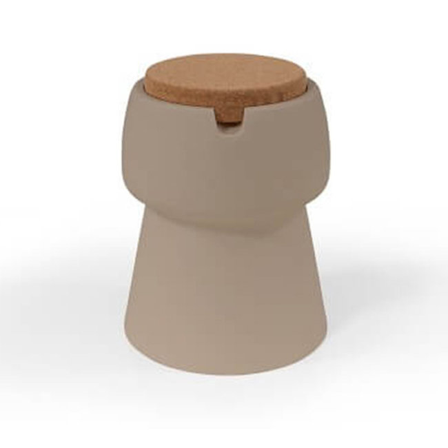 Bubalou Champ Stool - Champagne Cooler  - Side Table - taupe/cork