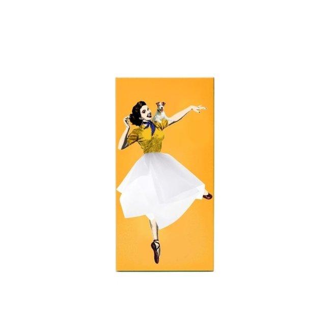 Luf Design Distributeur de Mouchoirs Tissue Up Girl - jaune