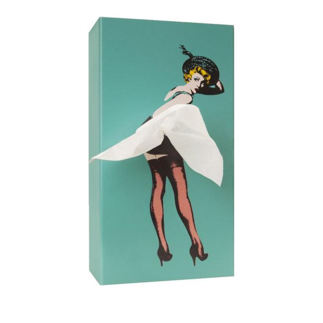 Spextrum Distributeur de Mouchoirs Tissue Up Girl - menthe