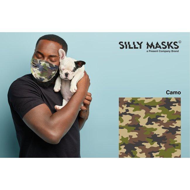 Silly Masks - Mundmaske Camouflage