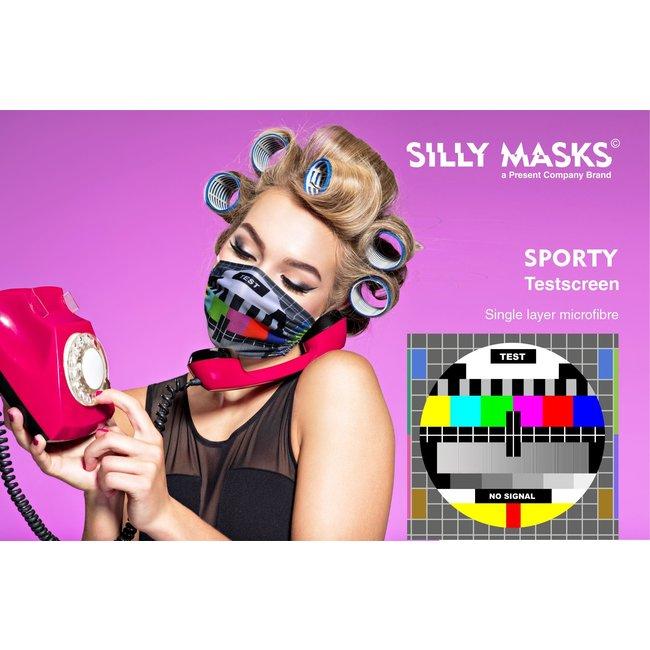 Silly Masks Mundmaske Testbildschirm