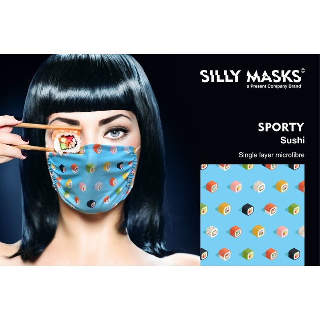 Silly Masks Mouth Mask Sushi