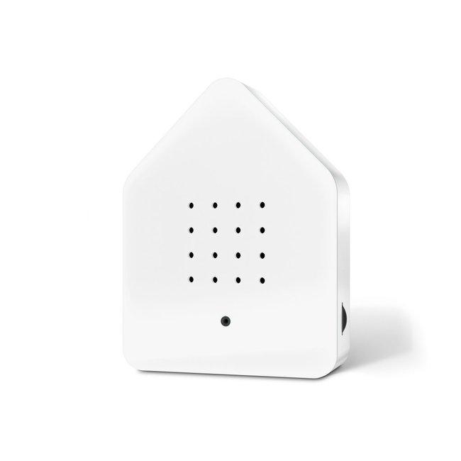 Zwitscherbox - Tjilpbox Bewegungsmelder - Vogelstimmen - weiß