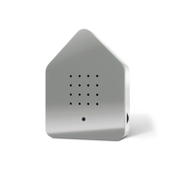 Zwitscherbox - Tjilpbox Bewegingsmelder - Vogelgeluiden - grijs/wit