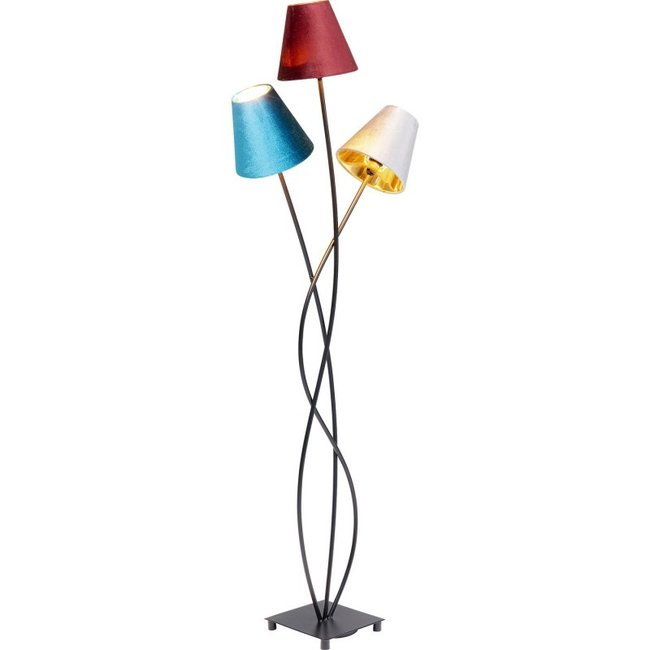 Karé Design Floor Lamp Flexible Velvet - 3 lamp shades