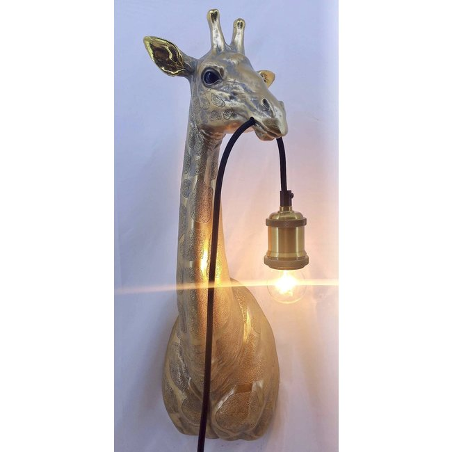 Wandlamp - Dierenlamp - Gouden Giraf