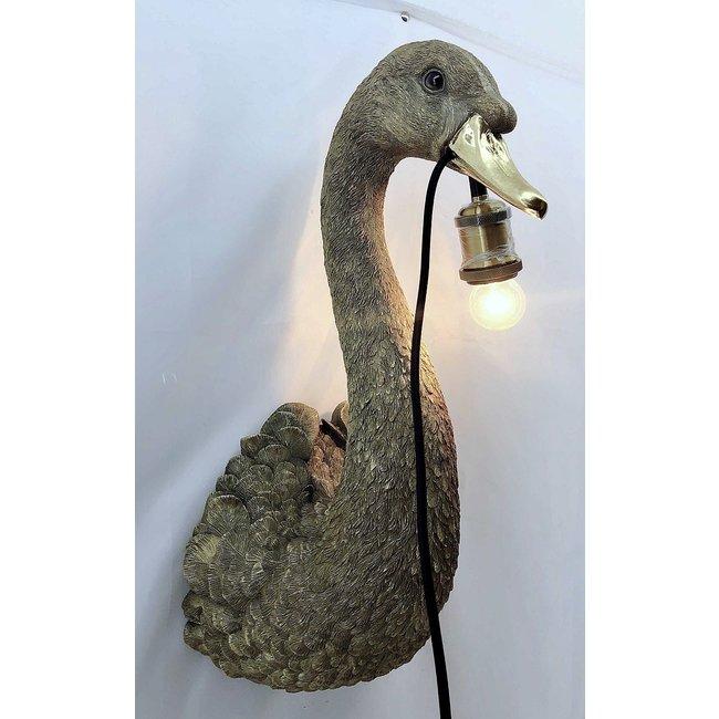 Wandleuchte - Tierlampe Goldener Schwan