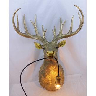 Lampe Murale Cerf Doré XL