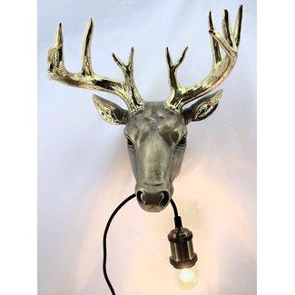 Lampe Murale Cerf Doré
