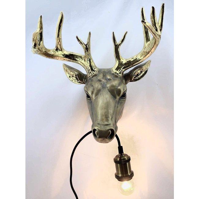 Wandleuchte - Tierlampe Goldener Hirsch