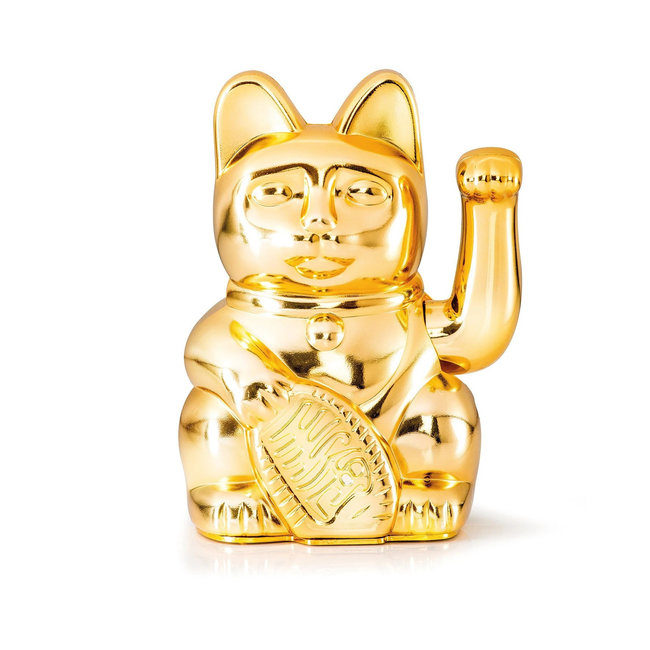 Donkey - Waving Lucky Cat - Egypt Limited Edition - glossy gold