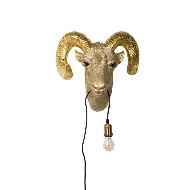 Wandleuchte - Tierlampe Goldener Bock
