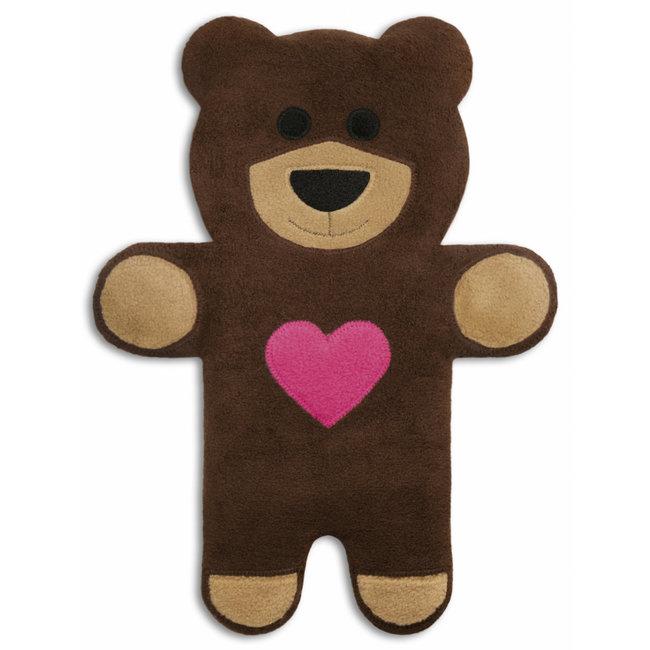 Leschi - Coussin Chauffant Teddy l'Ourson avec Coeur