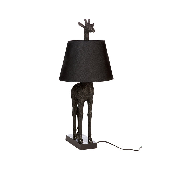 Tafellamp Giraf - zwart