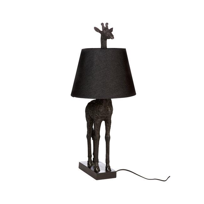 Tischlampe - Tierlampe Giraffe - schwarz