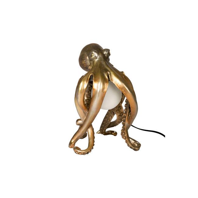 Tafellamp - Dierenlamp Gouden Octopus