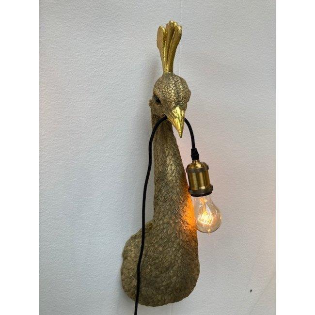 Wandlamp Gouden Pauw