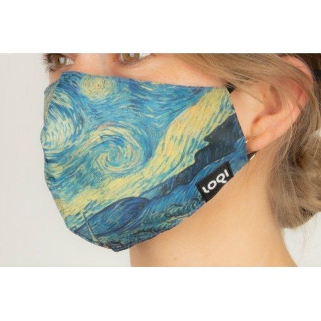 Loqi - Mundmaske Kunst - Vincent van Gogh - Sternennacht