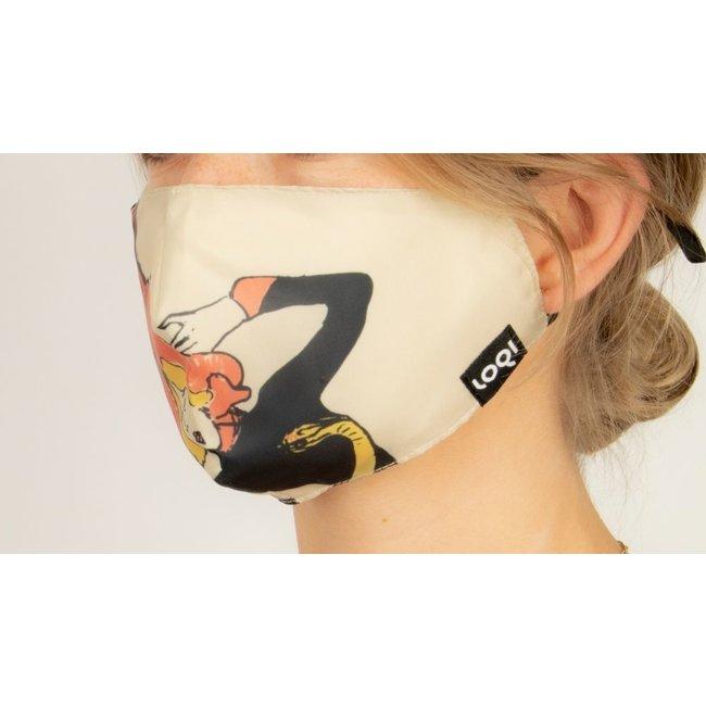 Loqi - Mundmaske Kunst - Toulouse Lautrec - Jane Avril