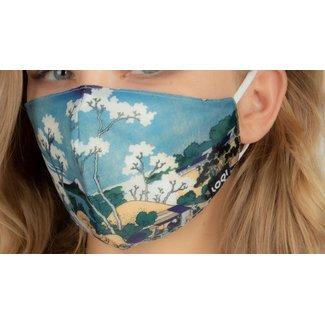 Loqi Masque Buccal Art - Katsushika Hokusai
