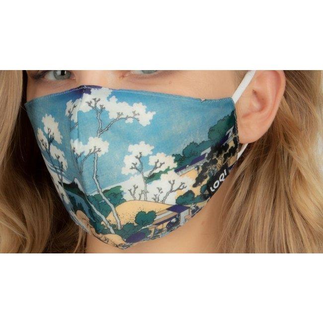 Loqi Mondmasker Kunst - Katsushika Hokusai