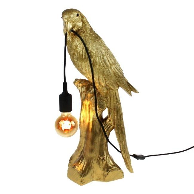 Werner Voß - Tafellamp - Dierenlamp Papegaai Timmy - antiek goud