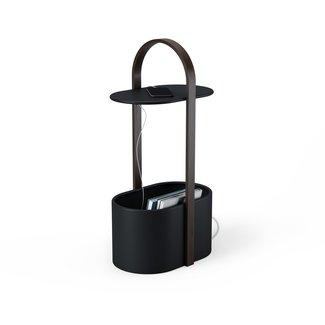 Umbra Side Table Hub Storage - black