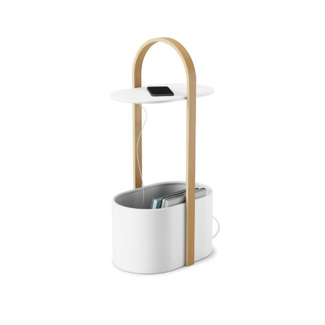 Umbra Side Table Hub Storage - white
