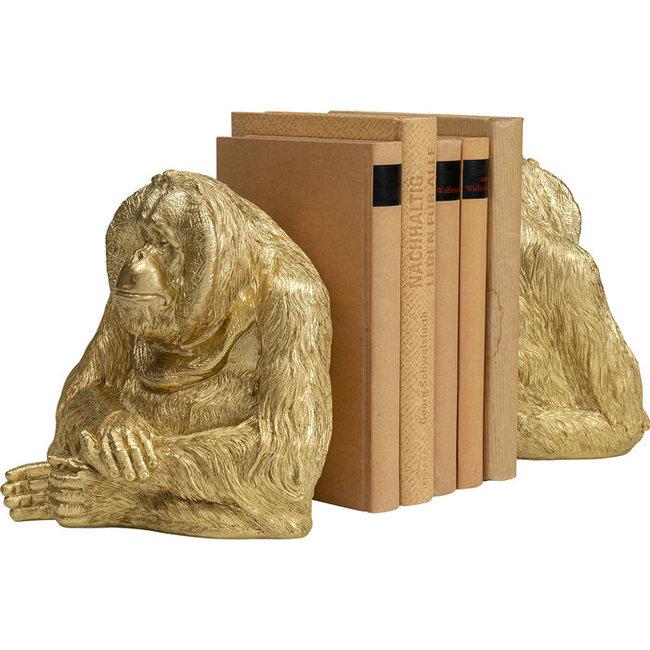 Karé Design - Buchstütze - Statuen Affe Orang Utan - 2er-Set