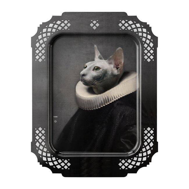 Ibride - Tablett / Gemälde - Katze - medium