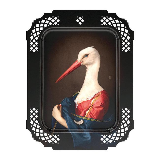 Ibride - Tray / Wall Art  - Stork - medium
