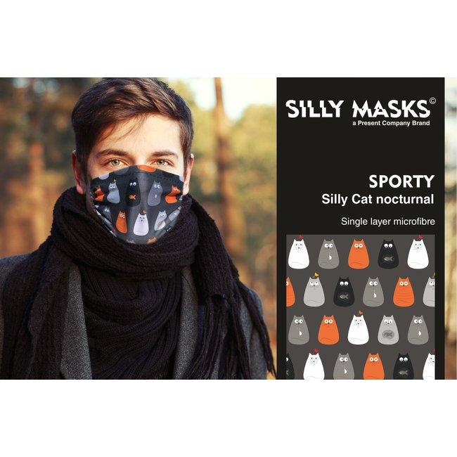 Silly Masks Mundmaske Silly Cats Nacht