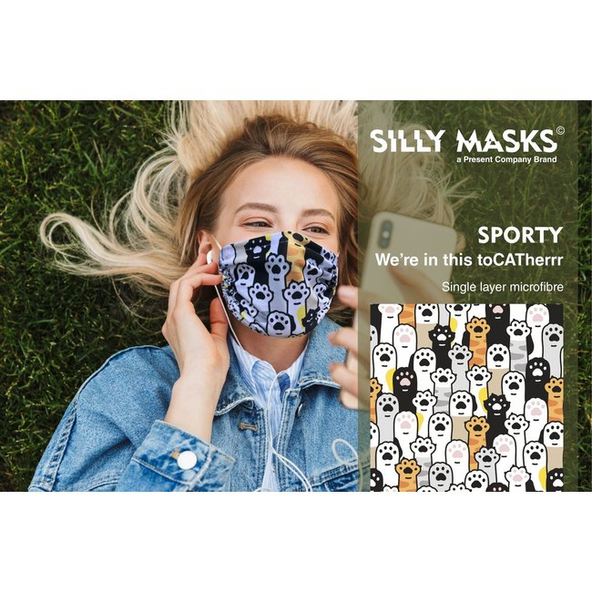Silly Masks - Mondmasker We're in this toCATherrr