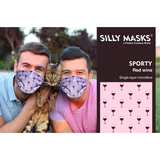 Silly Masks Mouth Mask Red Wine