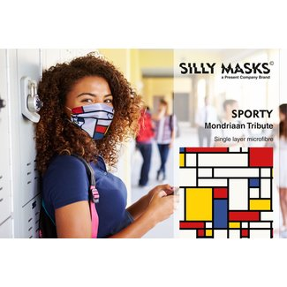 Silly Masks Mouth Mask Mondriaan Tribute