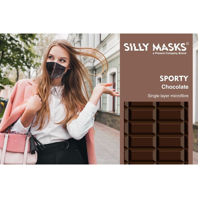 Silly Masks Mouth Mask Chocolate