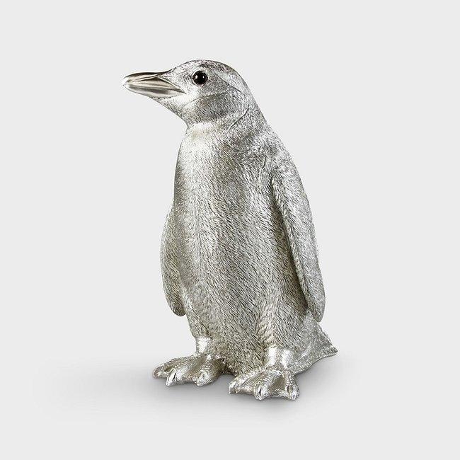 &klevering - Sparbüchse Pinguin - silber