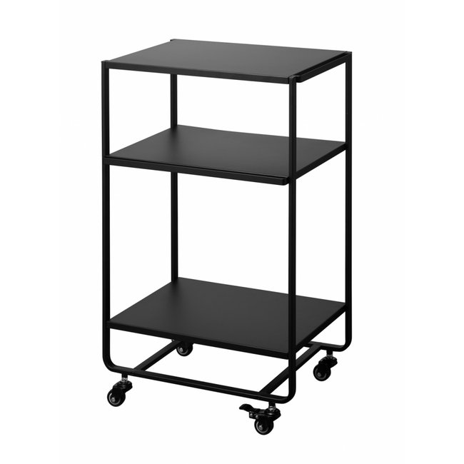 Yamazaki - Kitchen Cart - Serving Trolley Tower 3-tiered - black