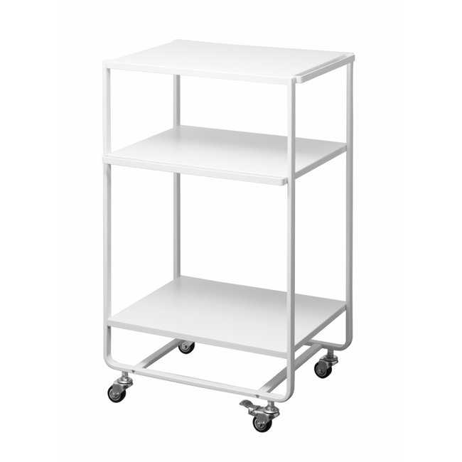 Yamazaki - Kitchen Cart - Serving Trolley Tower 3-tiered - white