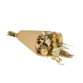 Plantophile Bouquet de Fleurs Séchées - naturel & blanc