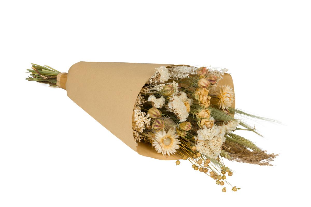 Dried Flowers Bouquet Natural White Plantophile Axeswar Design