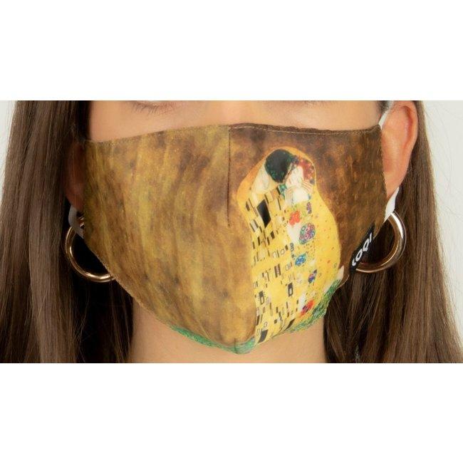 Loqi - Mundmaske Kunst - Gustav Klimt - The Kiss